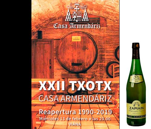Txotx 2019 Sidrería Restaurante Bar Pension Viana Navarra